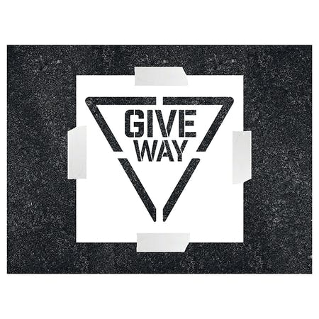GIVE WAY Stencil