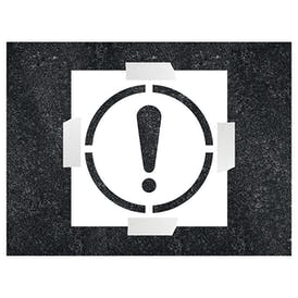 Exclamation Mark Stencil