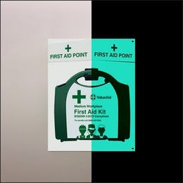 Glow In The Dark BS8599-1:2019 First Aid Points