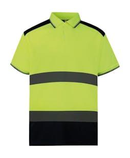 Yoko Hi-Vis Two-Tone Polo Shirt