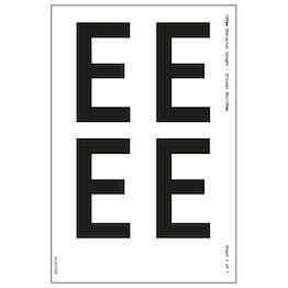 White Self Adhesive E Labels