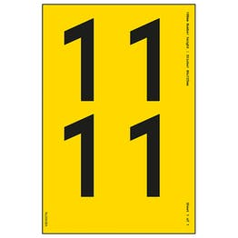 Yellow Self Adhesive 1 Labels