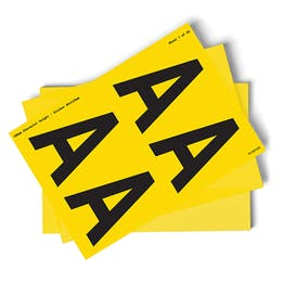 Yellow A-Z Letter Packs - 108mm Character Height