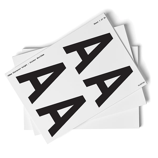 White A-Z Letter Packs - 108mm Character Height