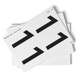 White 0-9 Number Packs - 108mm Character Height