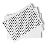White 0-9 Number Packs - 18mm Character Height
