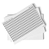 White 0-9 Number Packs - 13mm Character Height