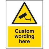 Custom Aluminium Composite CCTV Signs