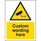 Custom Aluminium Composite CCTV Sign