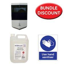 PBH Medical Alcohol Sanitiser Bundle With Automatic Dispenser