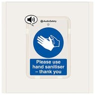 Protective Gloves Must Be Worn - Talking Safety Sign