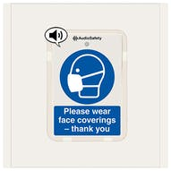 Please Wear Face Coverings - Talking Safety Sign