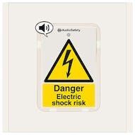 Danger Electric Shock Risk - Talking Safety Sign
