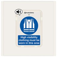 High Visibility Clothing Must Be Worn - Talking Safety Sign