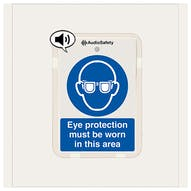 Eye Protection Must Be Worn - Talking Safety Sign