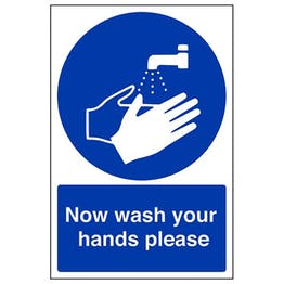 Eco-Friendly Now Wash Your Hands Please