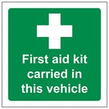 Eco-Friendly This Vehicle Carries A First Aid Kit