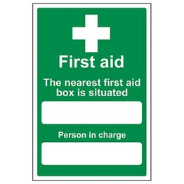 Eco-Friendly The Nearest First Aid Box Is Situated - Portrait
