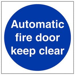 Eco-Friendly Automatic Fire Door Keep Clear