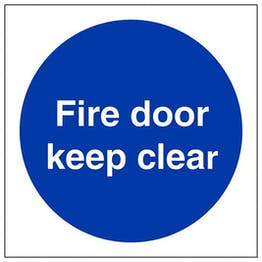 Eco-Friendly Fire Door Keep Clear