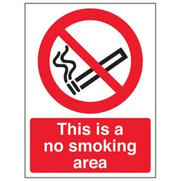 Eco-Friendly This Is A No Smoking Area - Portrait