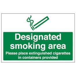 Eco-Friendly Designated Smoking Area - Extinguished Cigarettes