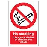 Eco-Friendly No Smoking - Vehicle Sticker
