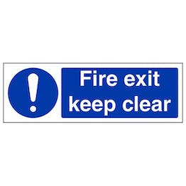 Eco-Friendly Fire Exit Keep Clear - Landscape
