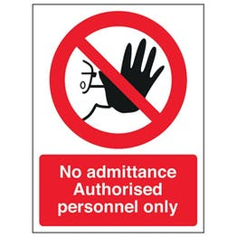 Eco-Friendly Authorised Personnel Only - Portrait