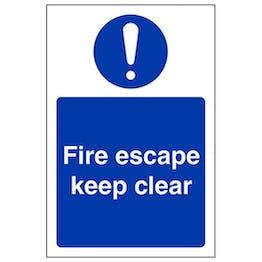 Eco-Friendly Fire Escape Keep Clear - Portrait