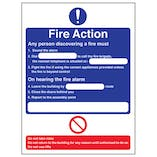 Eco-Friendly Fire Action - Any Person Discovering A Fire/Nearest Telephone