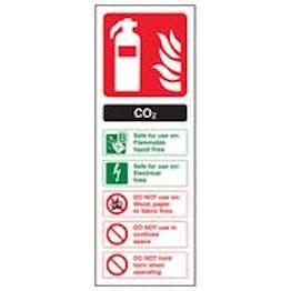 Eco-Friendly CO2 Fire Extinguisher - Portrait