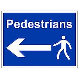 Eco-Friendly Pedestrians - Arrow Left - Large Landscape