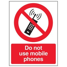 Eco-Friendly Do Not Use Mobile Phones - Portrait