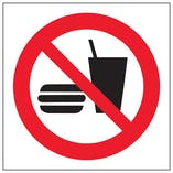 Eco-Friendly No Food Or Drink Symbol