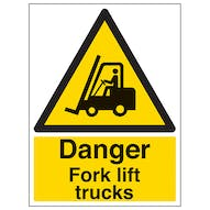 Danger Fork Lift Trucks - Portrait