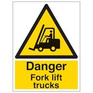 Danger Fork Lift Trucks - Portrait