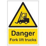 Danger Fork Lift Trucks - A4