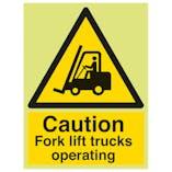 GITD Caution Fork Lift Trucks