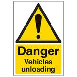 Danger Vehicles Unloading - Portrait