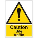 Caution Site Traffic - Portrait