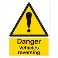 Danger Vehicles Reversing - Portrait