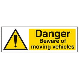Eco-Friendly Danger Beware Of Moving Vehicles - Landscape