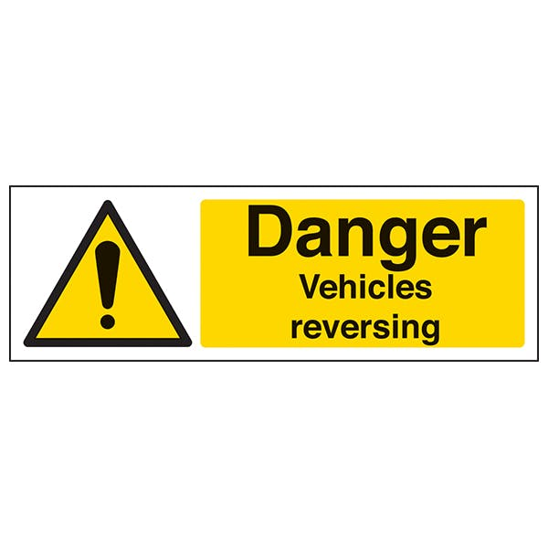 Danger Vehicles Reversing - Landscape