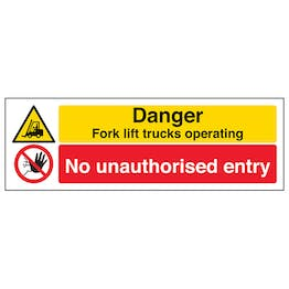 Forklift Trucks/No Unauthorised Entry