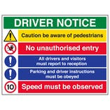 Driver Notice / 10mph Speed Must Be Observed