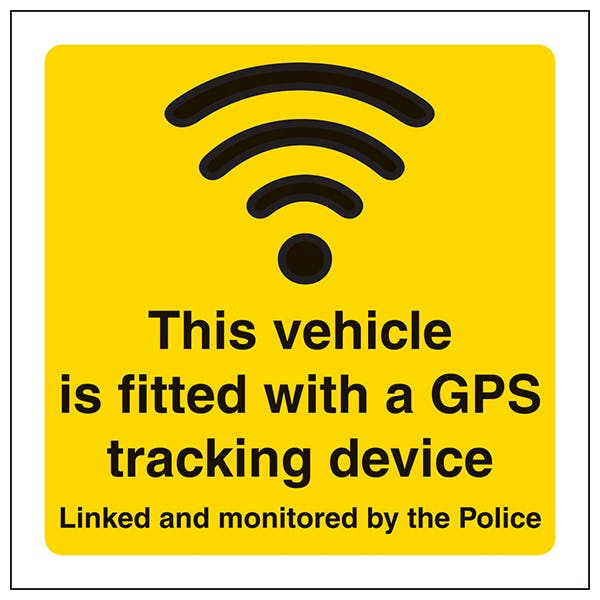 This Vehicle Is Fitted With A GPS Tracking Device - Window Sticker