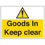 Goods In, Keep Clear