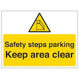 Safety Steps Parking, Keep Area Clear
