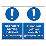 Use Hazard Warning Indicators When Reversing - Mirrored